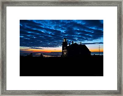 Predawn Light At West Quoddy Head Lighthouse Framed Print by Marty Saccone