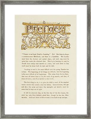 Preface To The Golden Primer Framed Print by British Library