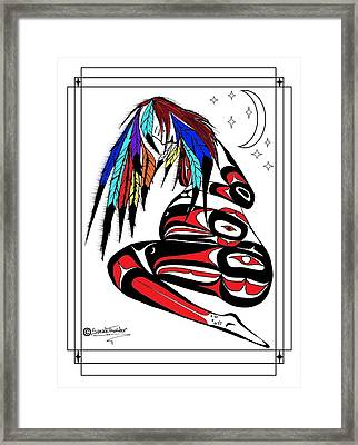 Prego Feathers Framed Print by Speakthunder Berry