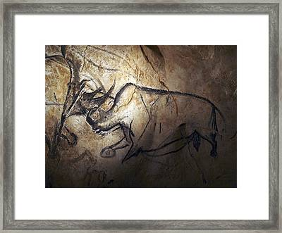 Prehistoric Cave Paintings, Chauvet Framed Print by Science Photo Library
