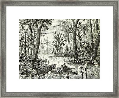 Framed Print featuring the photograph Prehistoric Flora, Carboniferous by British Library