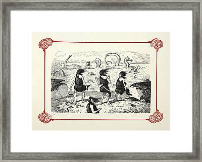 Prehistoric Sea Serpents Framed Print by British Library