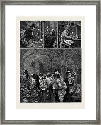 Preparations For A City Feast The Guildhall Kitchen Framed Print by English School