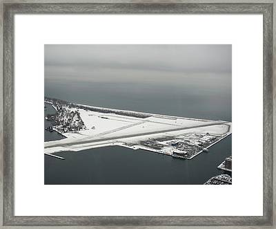 Prepare To Land Framed Print by Carolyn Mortensen