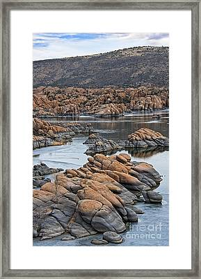 Prescott Arizona Winter Dells II Framed Print by Lee Craig