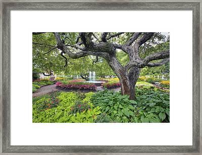 Prescott Garden Framed Print by Eric Gendron