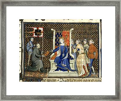 Presentation To Richard II Framed Print by British Library