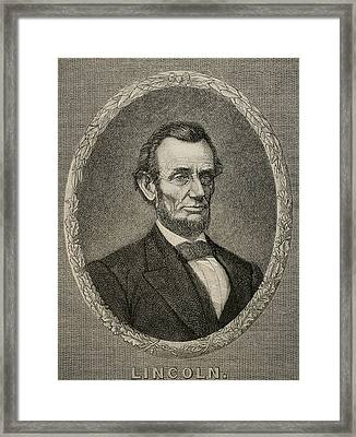 President Abraham Lincoln Framed Print by American School