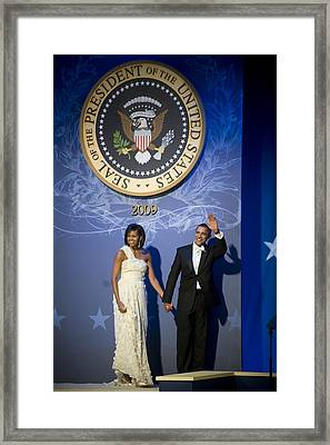 President And Michelle Obama Framed Print by had J McNeeley