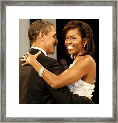 President And Michelle Obama Framed Print by Official Government Photograph
