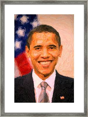 President Barack Obama Framed Print by Celestial Images