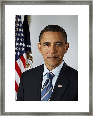 President Barack Obama Framed Print by Pete Souza