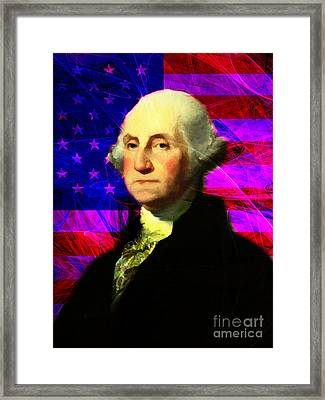 President George Washington V2 M123 Framed Print by Wingsdomain Art and Photography