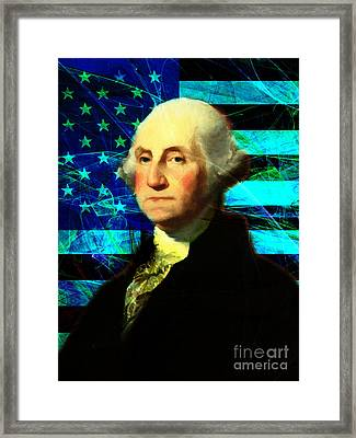 President George Washington V2 P138 Framed Print by Wingsdomain Art and Photography