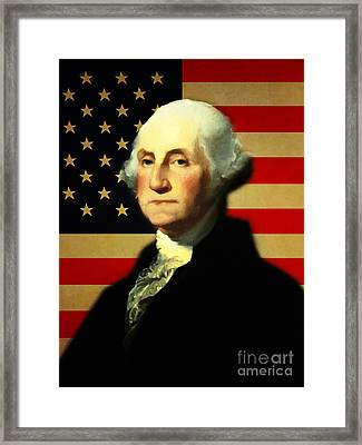President George Washington V3 Framed Print by Wingsdomain Art and Photography