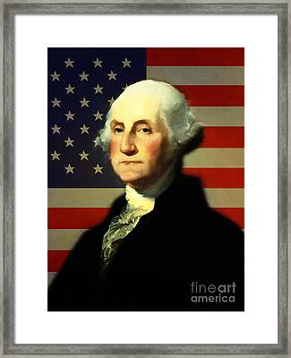 President George Washington V4 Framed Print by Wingsdomain Art and Photography