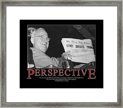 President Harry S. Truman Perspective  Framed Print by Retro Images Archive