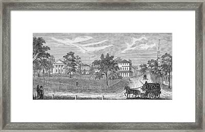 President Lincoln Leaving The Davis Mansion, Illustration From Battles And Leaders Of The Civil Framed Print by William Ludlow Sheppard