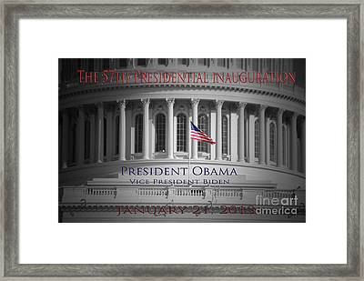 President Obama Inauguration Framed Print by Jost Houk