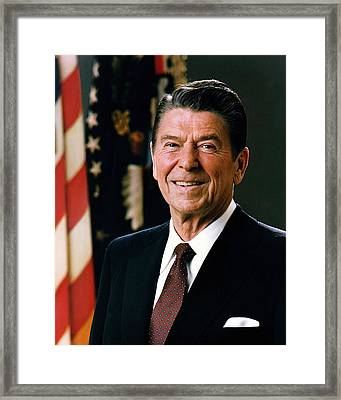 President Ronald Reagan Framed Print by Official White House Photograph