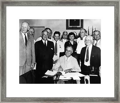 President Roosevelt Framed Print by Retro Images Archive