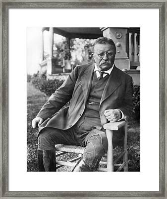 President Theodore Roosevelt Framed Print by Underwood Archives