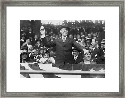 President Wilson Opens Season Framed Print by Underwood Archives