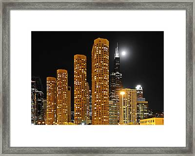 Presidential Towers Chicago Framed Print by Christine Till