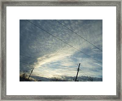 Presnow Storm In Buffalo Framed Print by Suzanne Perry