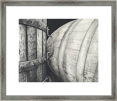 Press To Barrel Framed Print by Mark Treick