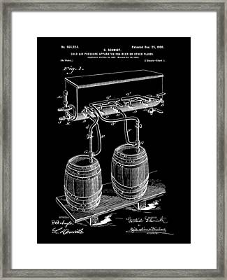 Pressure Apparatus For Beer Patent 1897 - Black Framed Print by Stephen Younts