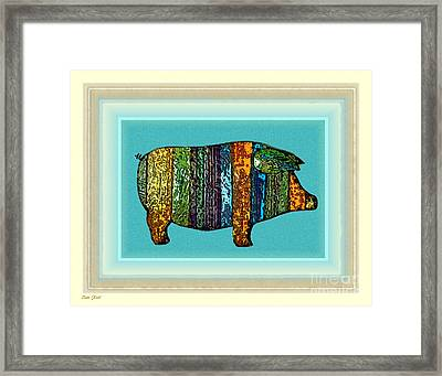 Pretty As A Pig-ture Framed Print by Dale   Ford