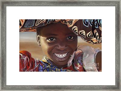 Pretty As Can Be Framed Print by Nanybel Salazar