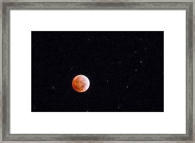 Pretty Face On A Blood Moon Framed Print by Carolina Liechtenstein