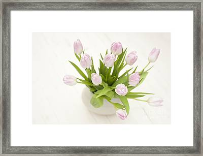 Pretty In Pink Framed Print by Anne Gilbert