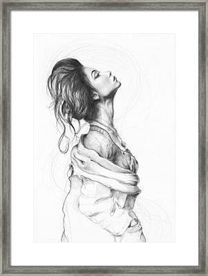 Pretty Lady Framed Print by Olga Shvartsur