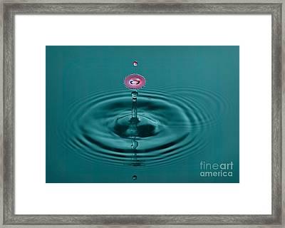 Pretty Liquid Pink Hat Framed Print by Susan Candelario