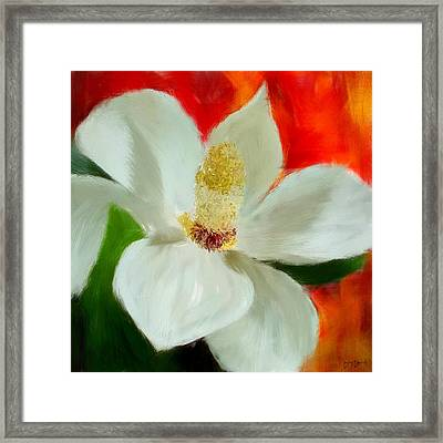 Pretty Maggy Framed Print by Lourry Legarde