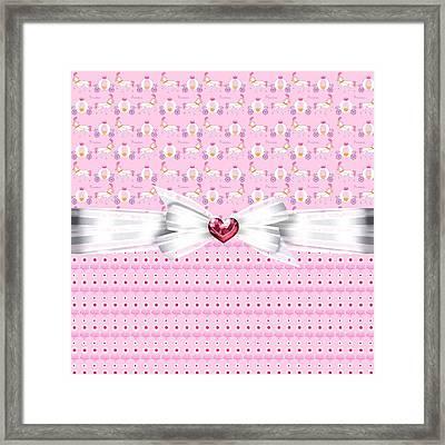 Pretty Pink Princess Framed Print by Debra  Miller