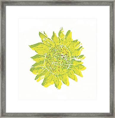 Pretty Sunflower  Framed Print by Lynn-Marie Gildersleeve