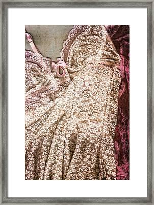 Pretty Things 2 - Lingerie Art By Sharon Cummings Framed Print by Sharon Cummings