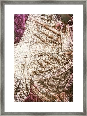 Pretty Things 3 - Lingerie Art By Sharon Cummings Framed Print by Sharon Cummings