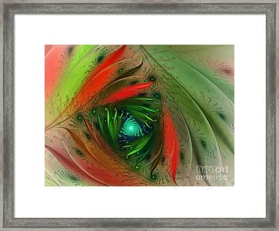 Pretty Wrapped Spiral-fractal Design Framed Print by Karin Kuhlmann