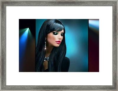 Pretty Young Thing 2 Framed Print by Karen Showell