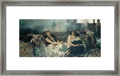 Previati Gaetano, Hashish The Hashish Framed Print by Everett