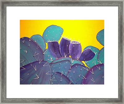 Prickly Pear With Fruit Framed Print by Karyn Robinson