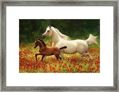 Pride And Joy Framed Print by Laurie Hein