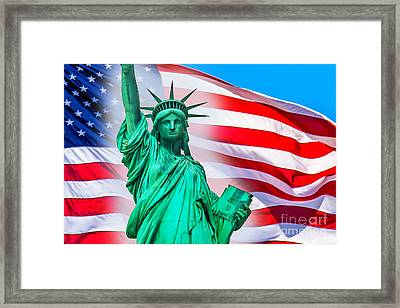 Pride Of America Framed Print by Az Jackson