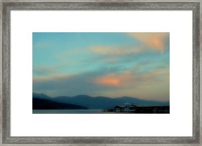 Priest Lake At Dusk II Framed Print by David Patterson
