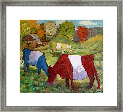 Primary Cows Framed Print by Paul Emory